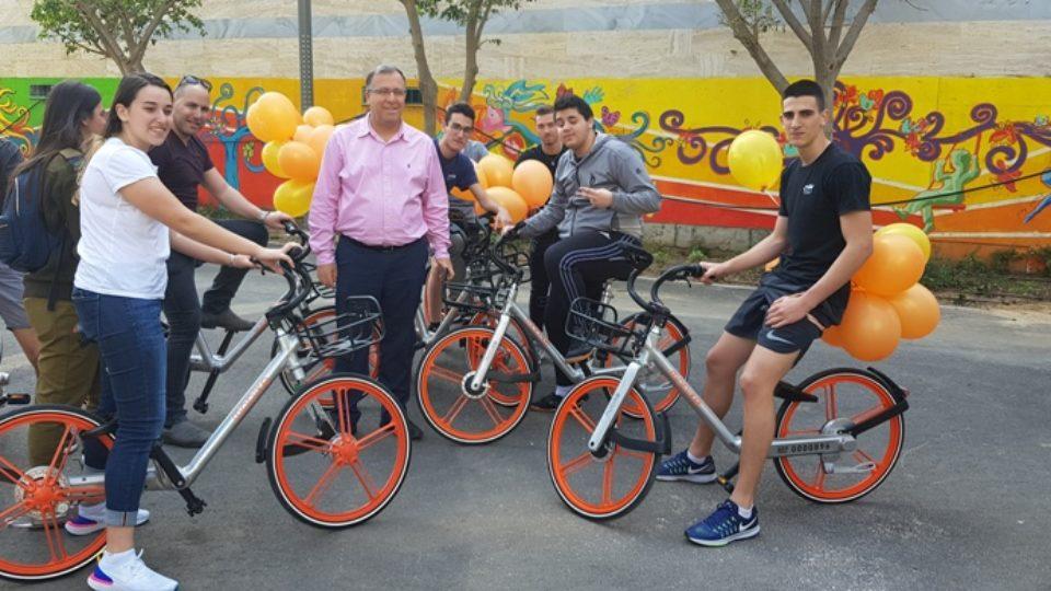 קריית ביאליק מצטרפת למיזם אופניים שיתופיים