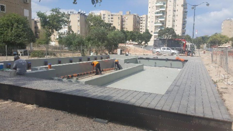 הקמת פארק אריק שרון בקריית ביאליק-העבודות בעיצומן