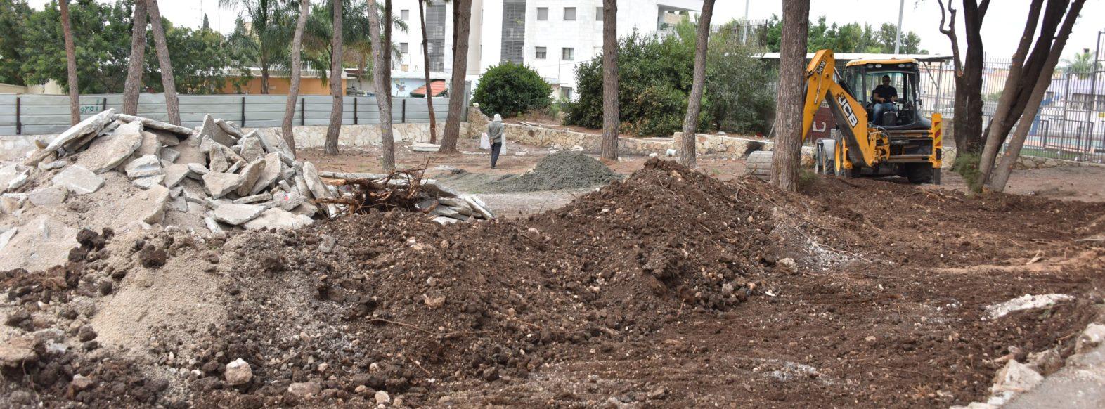 עיריית קרית אתא מקימה גן חדש ברחוב חנקין