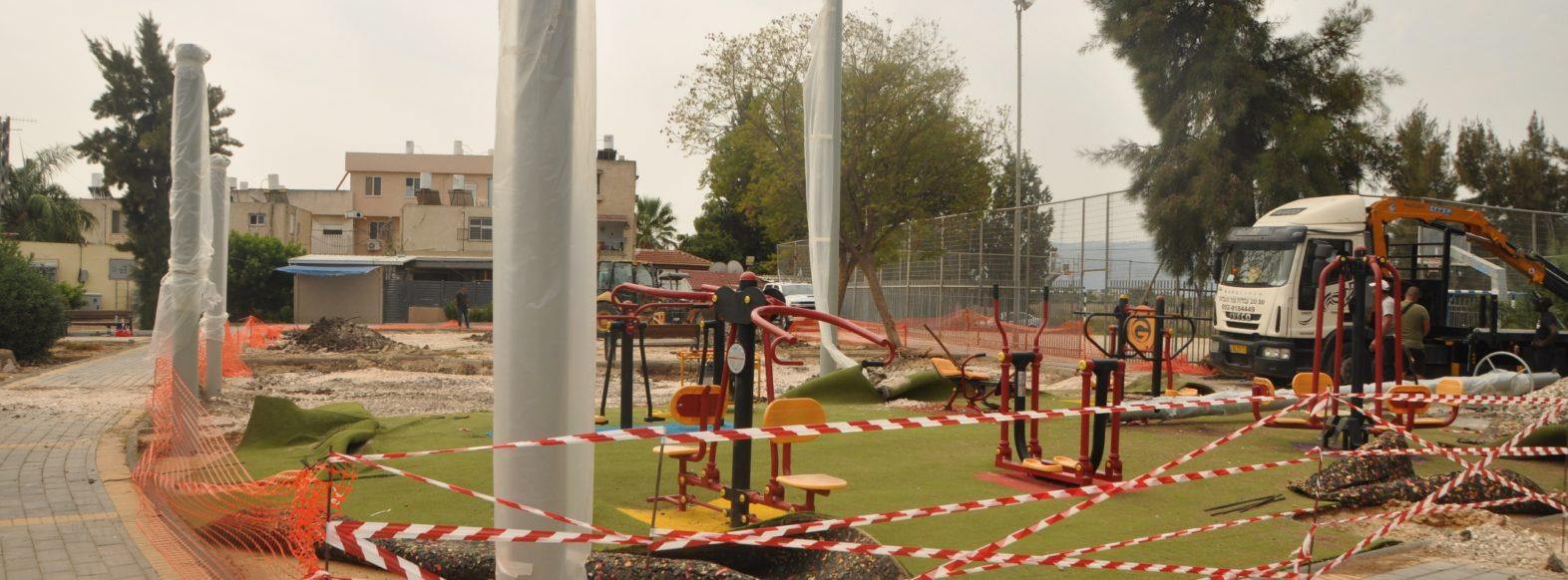 עיריית קרית אתא מקימה גן משחקים חדש ברחוב שיבת ציון