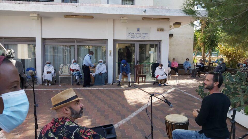 ק. אתא-תלמידי הישיבה התיכונית חגגו את חג הסיגד הנחגג בקרב יהודי אתיופיה.