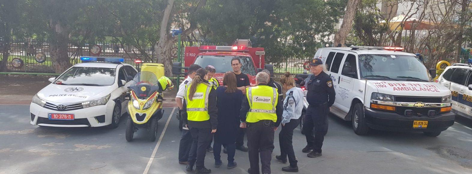 """יום קהילה ומשטרה בבית הספר """"הבונים"""" וגן ארזים בקריית ביאליק"""