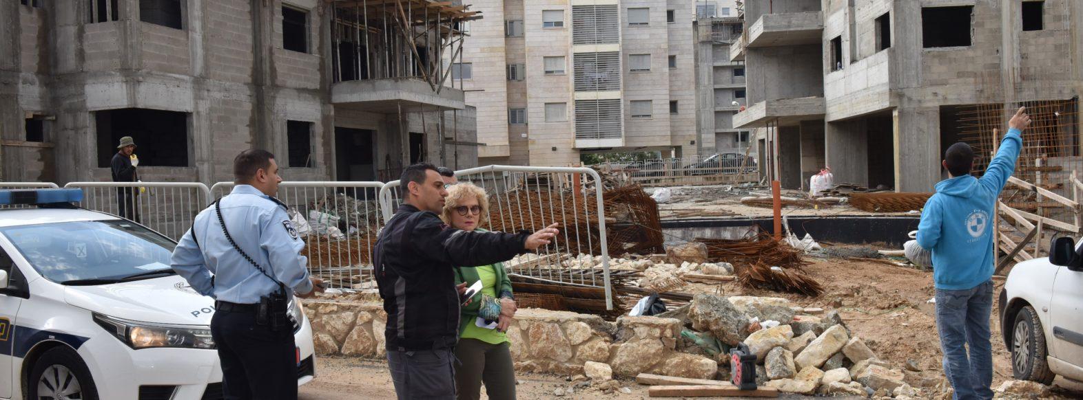 ק. אתא-מבצע אכיפה באתרי הבנייה בעיר