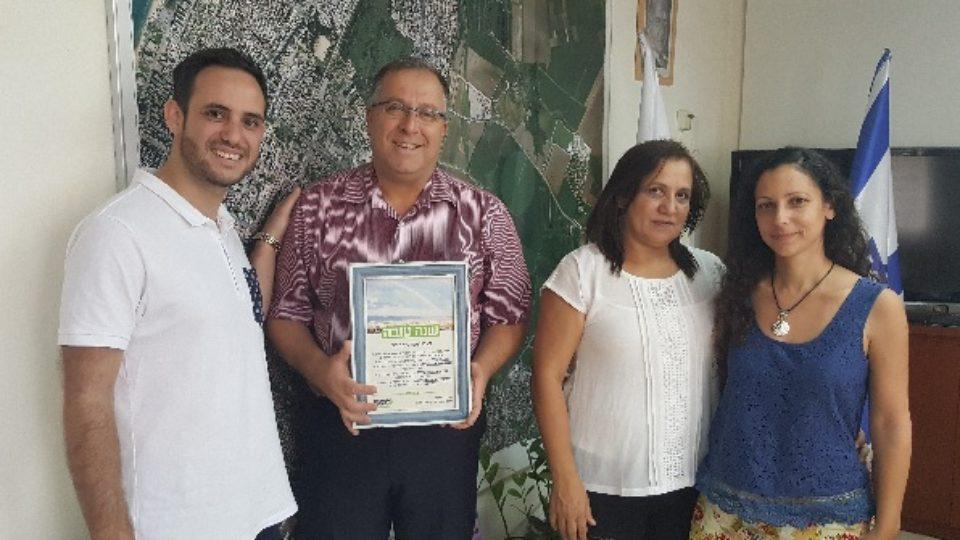 ראש העיר אלי דוקורסקי קיבל ברכה מיוחדת לראש השנה מנציגי מגמה ירוקה