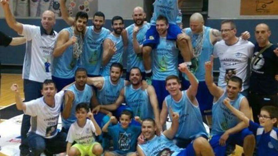 אליפות למוצקין,עלתה לליגה הלאומית בכדורסל