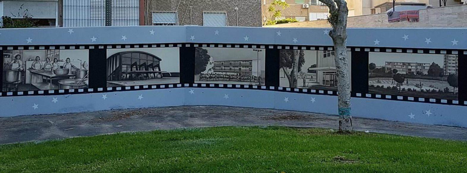 """""""קיר הנוסטלגיה"""" הוקם בפארק סביון בקרית ביאליק"""