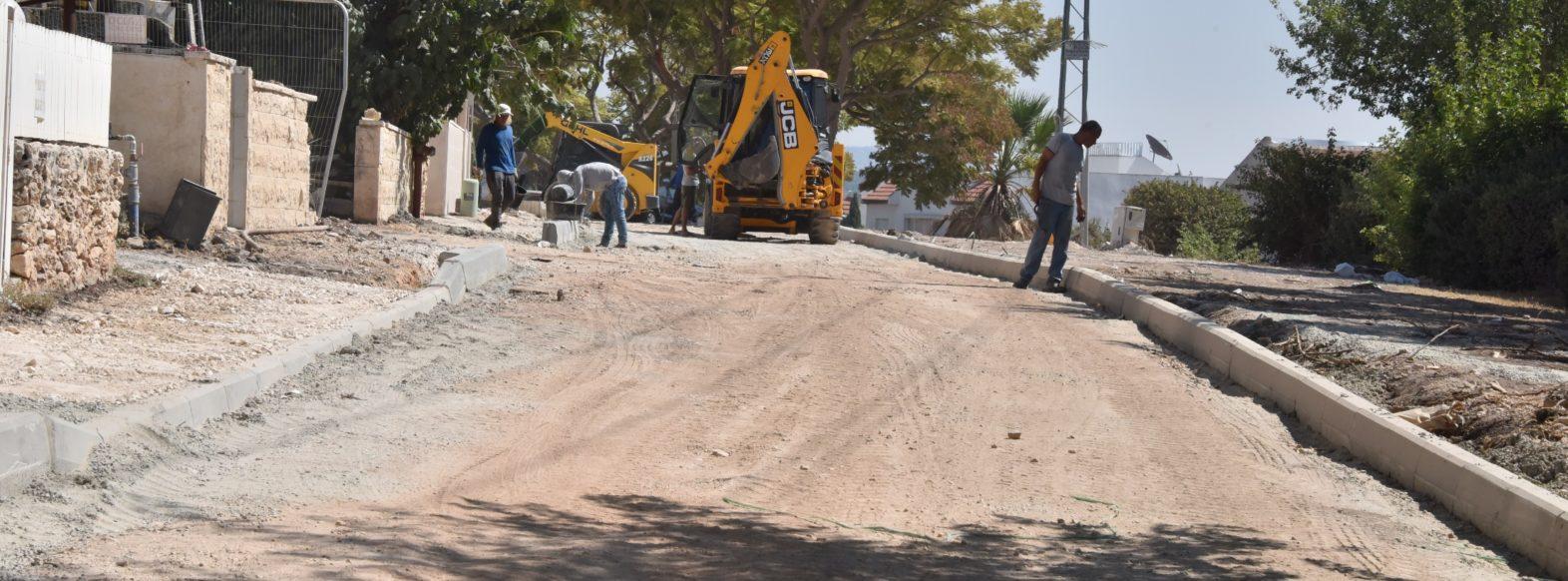 עבודות תשתית לשדרוג רחוב בורוכוב