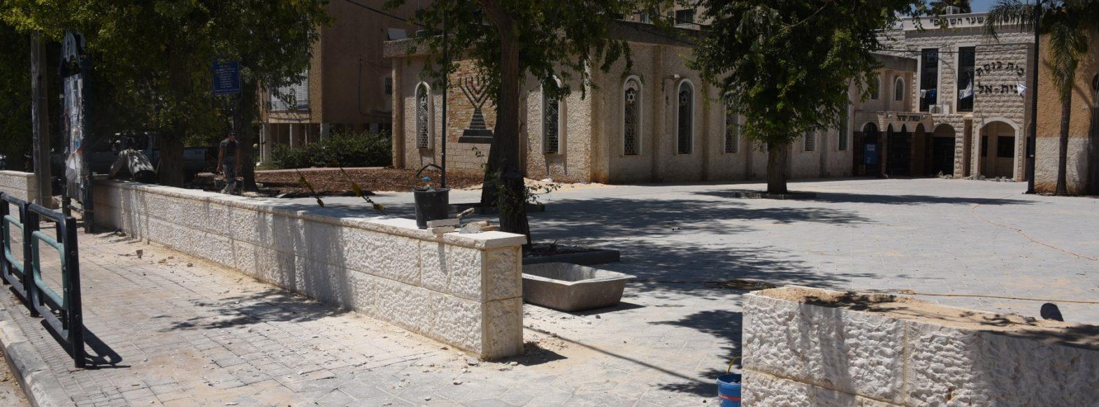 עבודות תשתית ברחבת בתי הכנסת ברחוב הוגו מולר