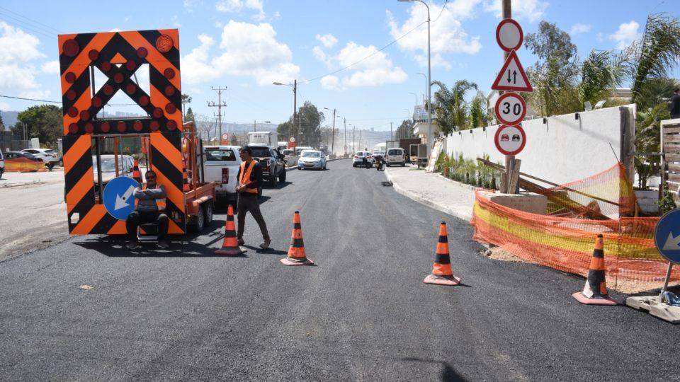 החל שלב נוסף בפרויקט הסדרת רחוב התעשייה