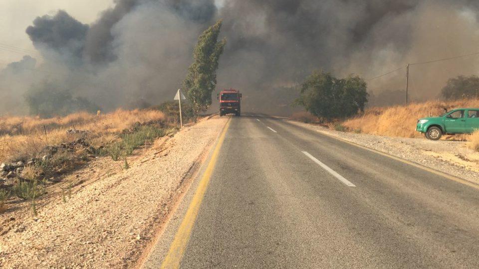 """בית היערן בחיפה-שריפת חורש-צוותי כב""""א במקום בתגבור מטוסים"""