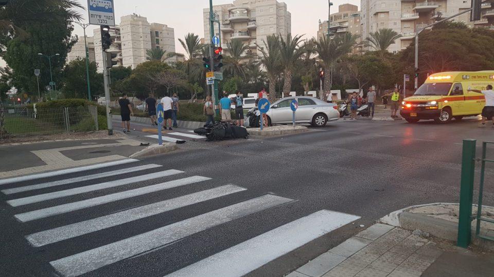 תאונת דרכים בשד' ירושלים בקריית ים (שוב)
