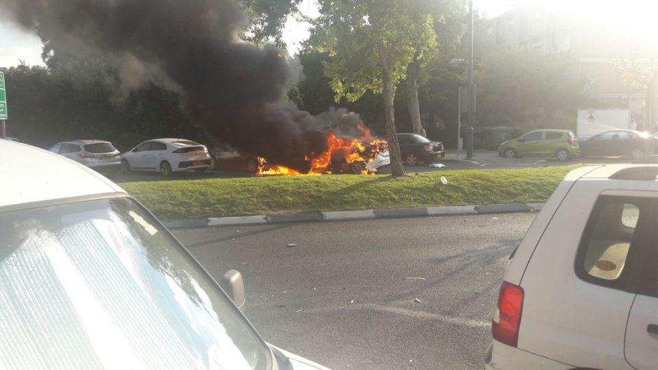 פיצוץ רכב בקריית חיים-בן 28 נלחם על חייו