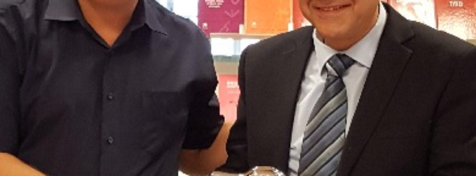 """מנכ""""ל משרד החינוך, שמואל אבואב, ביקר בקריית ביאליק ונפגש עם ראש העיר ומנהלי בתי הספר"""