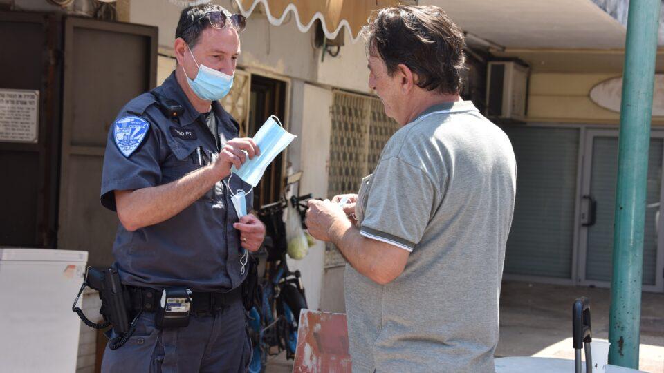פעילות אכיפה מניעה והסברה בנושא הקורונה ברחבי העיר