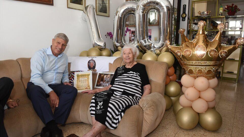 קריית אתא- חוגגים יום הולדת 100 לתושבת העיר אליס שטיין