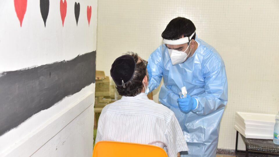 """קריית אתא-מתחם בדיקות קורונה של מד""""א במרכז הנוער העירוני בקרית אתא"""