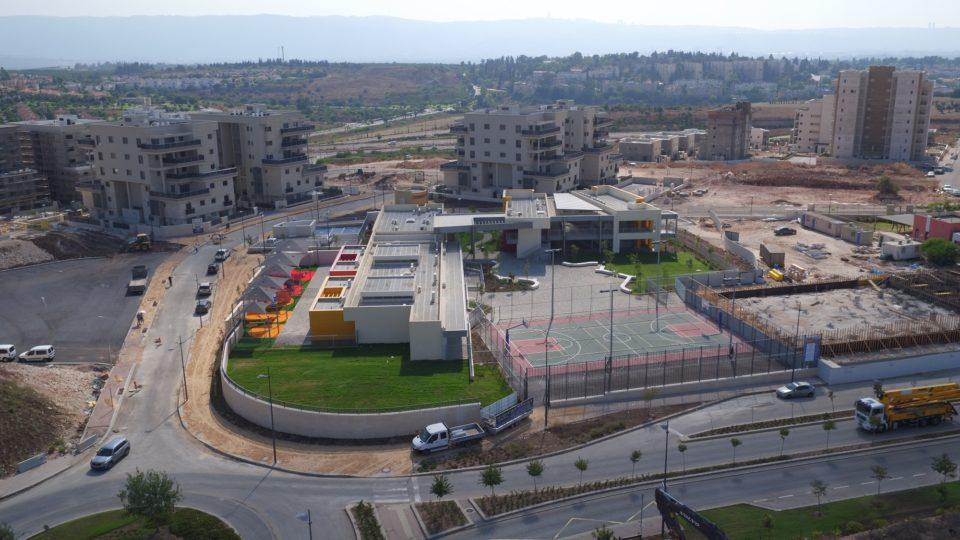 """שלב שני בבניית בית הספר החדש """"גבעת אלונים"""""""