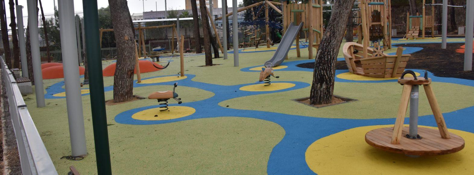 קריית אתא-גן משחקים ציבורי חדש ברחוב חנקין