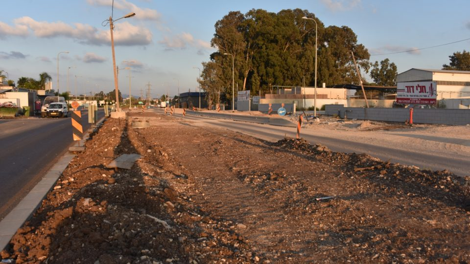 קריית אתא-החל השלב האחרון בפרויקט הסדרת רחוב התעשייה