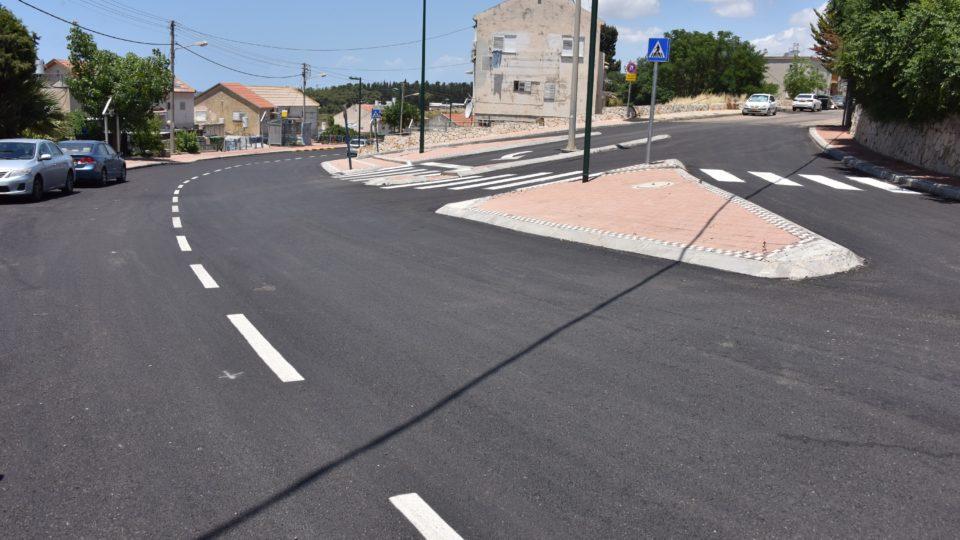 קרית אתא-הסתיימו עבודות התשתית ברחוב יצחק שדה