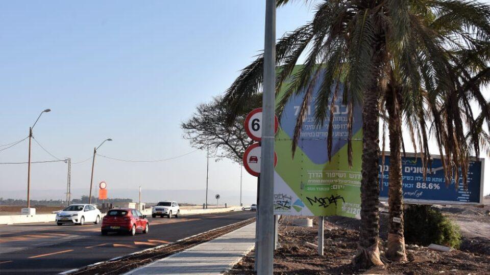 עיריית קרית אתא מבצעת עבודות פיתוח נרחבות בכביש 781