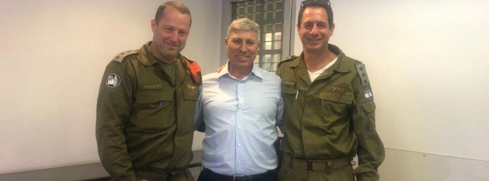קריית אתא- ביקור מפקד מחוז חיפה בפיקוד העורף