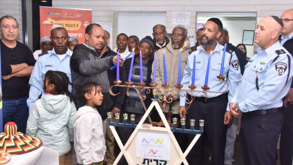 הדלקת נרות וערב הוקרה לקהילה האתיופית בקריית אתא