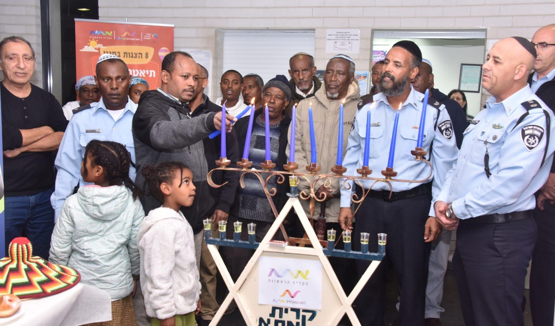 הדלקת נר יחד עם קהילת יוצאי אתיופיה