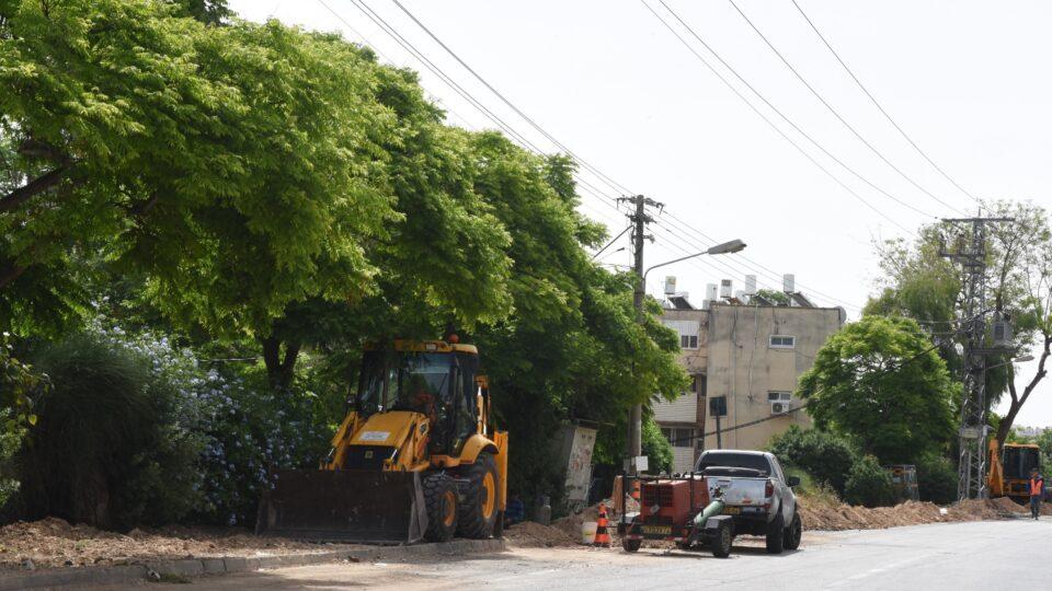 עבודות תשתית נרחבות ברחובות הרצוג