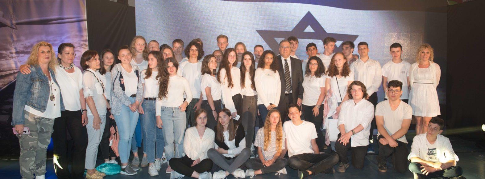 משלחת בני נוער מהיידלברג, גרמניה ביקרה בקרית ביאליק והתארחה במשפחות בני הנוער הישראלים.