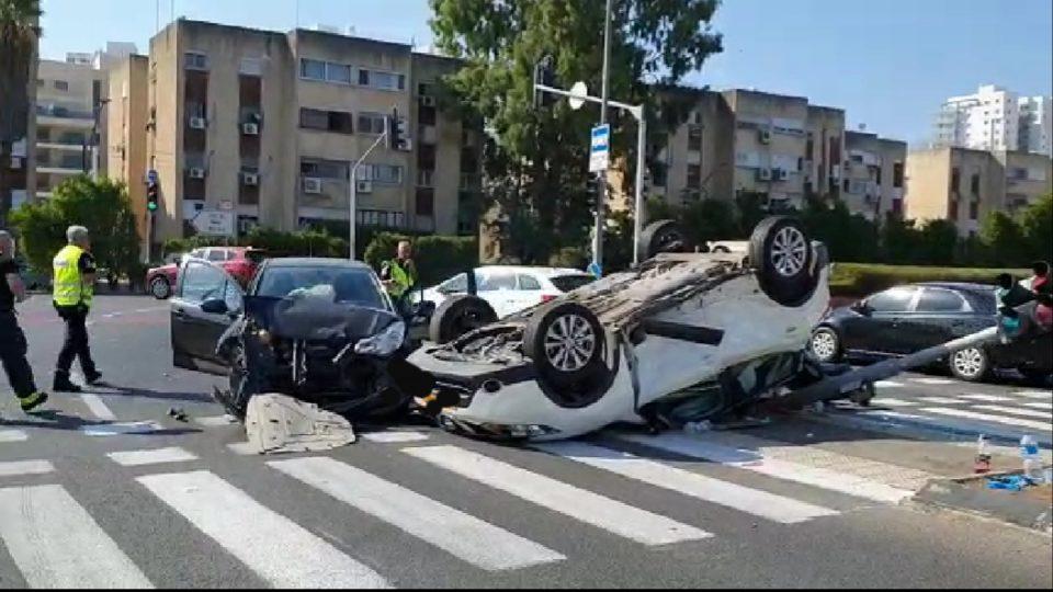 תאונת דרכים קשה סמוך לצומת הקריון