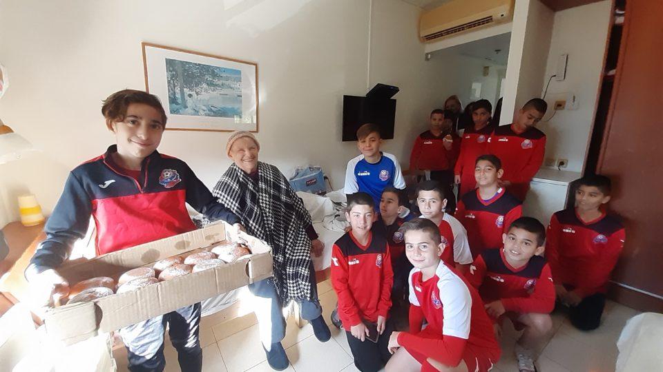 ילדים ג' של קבוצת הפועל חיפה במסר ערכי לקהילה