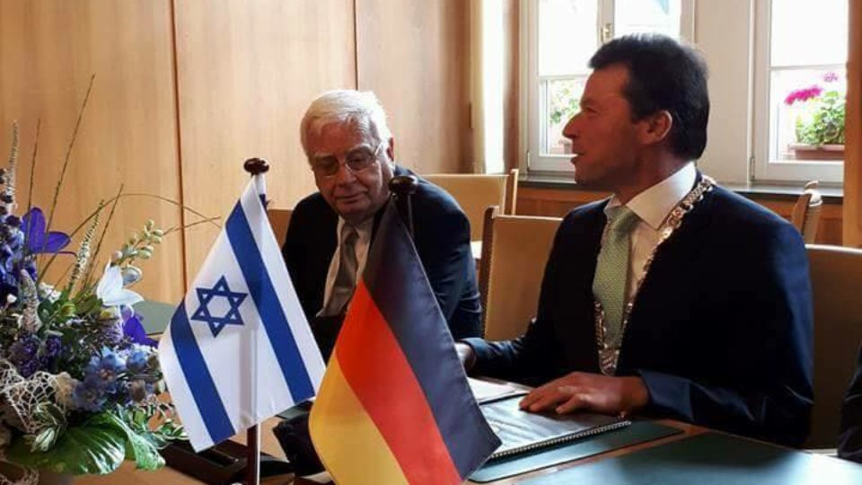 נחתם הסכם ברית ערים בין מוצקין להוך שבגרמניה