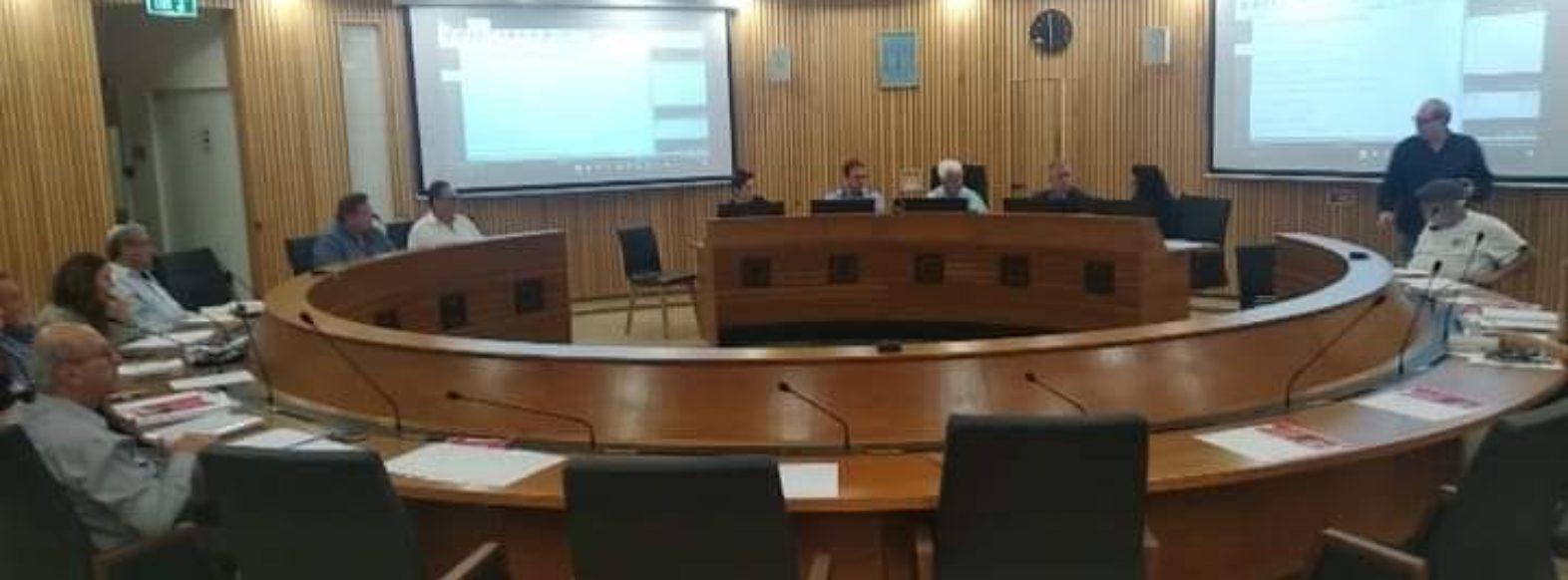 ישיבת מועצת העיר בקריית מוצקין עברה ללא רעשי רקע והפרעות