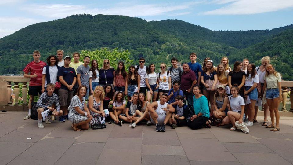 משלחת בני נוער מקריית ביאליק ביקרה בהיידלברג, גרמניה
