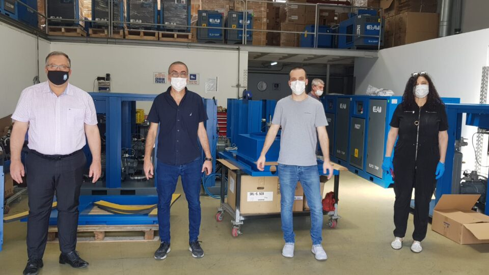 """דוקורסקי ביקר בחברת """"אל – אב מדחסים"""" מקריית ביאליק המספקת פתרונות ניידים למכונות הנשמה לבתי חולים"""