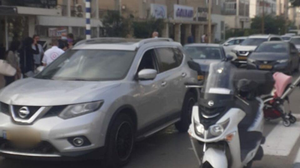 ציר גושן נחסם לתנועה עקב תאונת דרכים בין כלי רכב לקורקינט