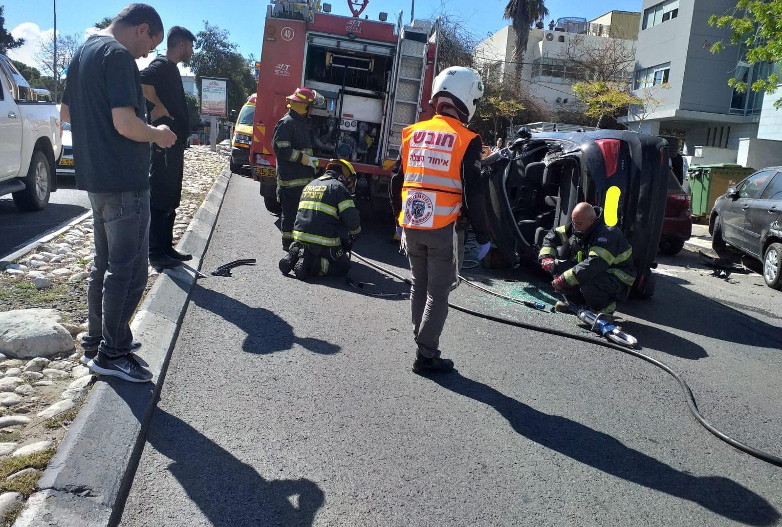 """התאונה בכרמל קרדיט צילום מד""""א ואיחוד הצלה"""