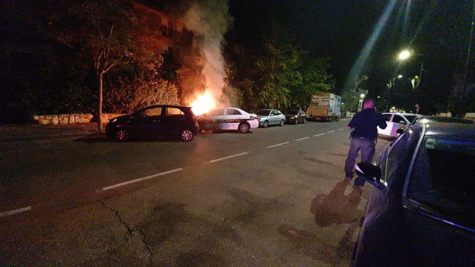 המשטרה עצרה תושב אזור הקריות החשד בהצתת ניידת משטרה בביאליק