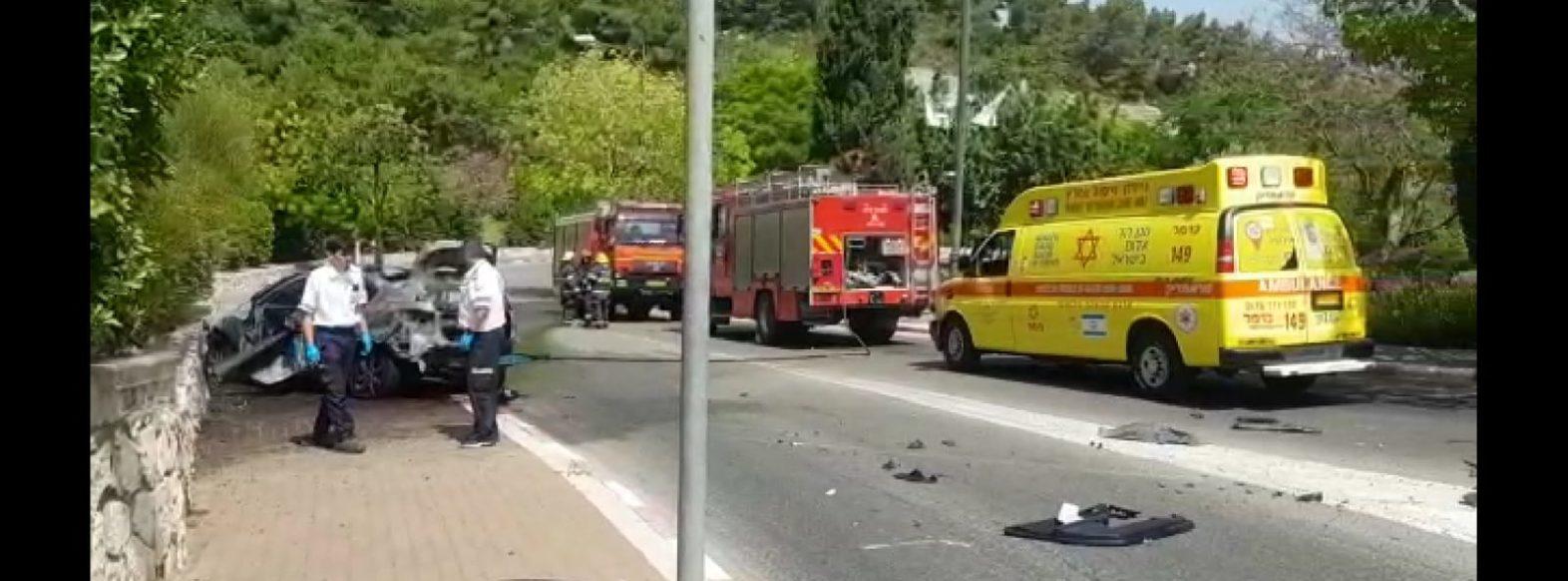 הרוג בפיצוץ רכב בנשר