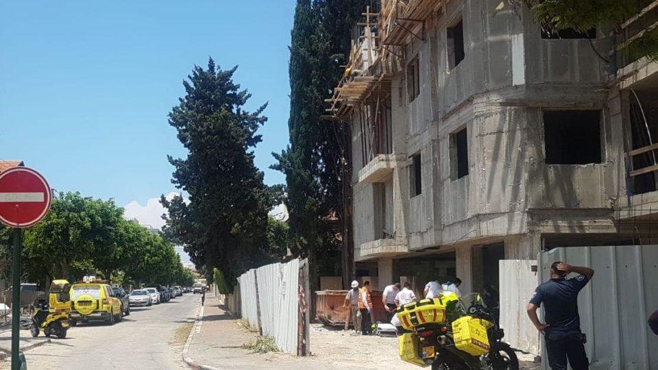 שוב תאונה באתר בניה,הפעם בקריית ביאליק