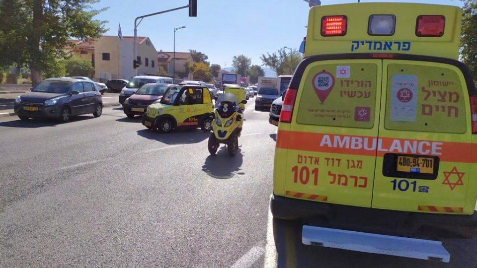 בן 75 נפגע בתאונת דרכים בכביש וורבורג, מצבו בינוני