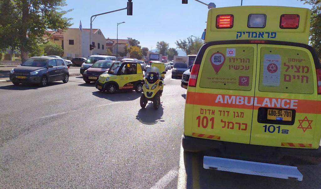 מקום התאונה בקריית שמואל. קרדיט צילום: איחוד הצלה