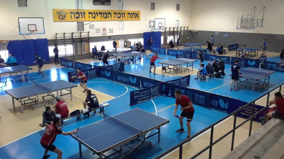 קריית חיים תארח לראשונה את אליפות ישראל בטניס-שולחן לשנת 2021