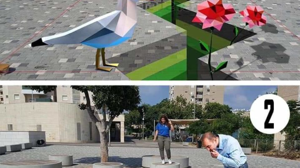 דוקורסקי משתף את תושבי העיר בבחירת ציורי רצפה תלת ממדיים