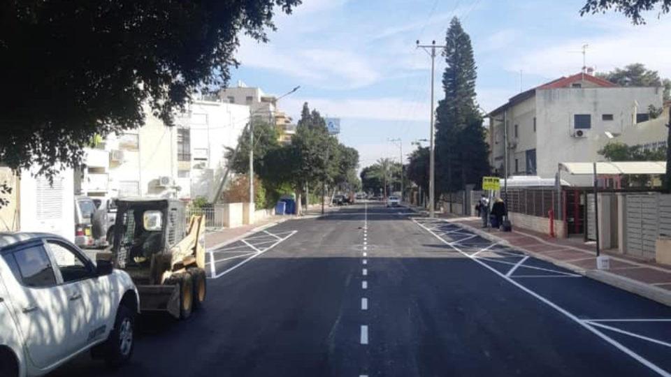 הסתיימו עבודות שדרוג רחוב אפרים בקריית ביאליק